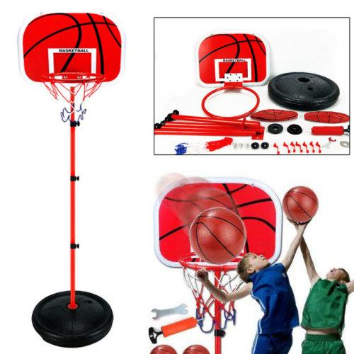 Adjustable 170cm Kids Basketball Back Board Stand & Hoop Set Children Gift UK