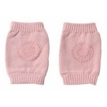 Baby Crawling Knee Pads Breathable Cotton Anti-Slip Knee Pads For Toddlers, Pink