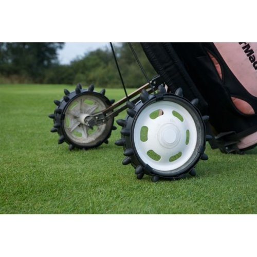 Hedgehog Black Hand Pull / Push Golf Trolley Wheels Sleeve Set