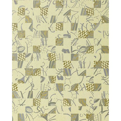 EDEM 745-28 wallpaper abstract design art style ivory silver gold | 5.33 sqm
