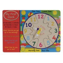 Wood My First Clock - Wooden Puzzle Toy Jigsaw Preschool Learning -  clock first wooden my puzzle toy jigsaw preschool learning