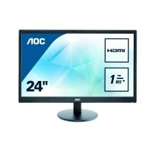 AOC E2470SWH 24In Widescreen LED Monitor -DVI HDMI VGA
