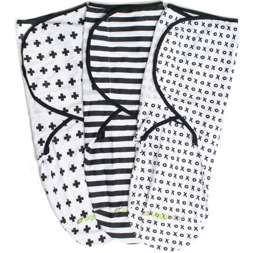 Swaddle Wrap Blanket for Babies - 3 Pack, Unisex, Universal Fit - Ziggy Baby Adjustable Infant Baby Newborn Wrap Set for Boys, Girls Soft 100%...