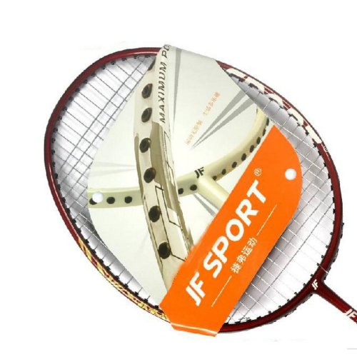 Pro Badminton Racquet Restrung Alluminum Rackets with Bag, 3 Shuttlecocks