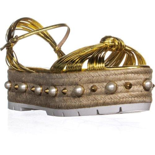 Gucci Barbette Platform Sandals, Oro Vecchio, 6 UK