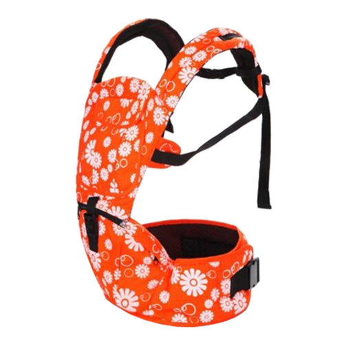 Multifunctional Baby Carrier Waist Stool Strap Carrier,Painted Design Orange