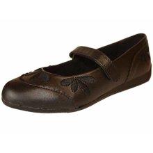 Girls Bella Back to School Flat Heel Sandal Shoe UK10 Black