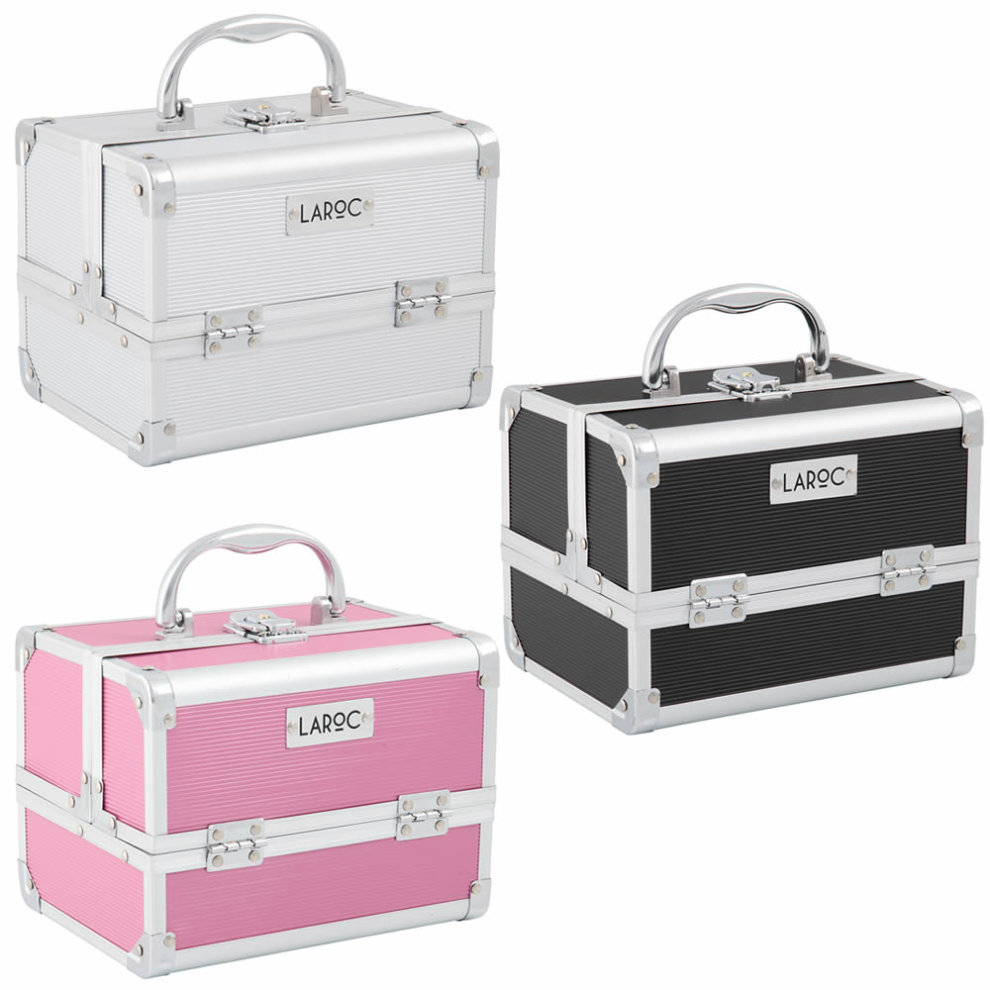 9bea2f027ef8 Aluminium Professional Cosmetic Makeup Vanity Travel Case Storage Nail  Carry Box