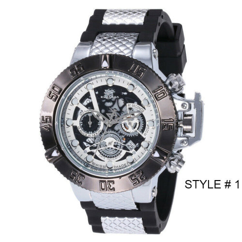 Men Business Watches Quartz Watch 6 Dial Date indicator Wristwatch