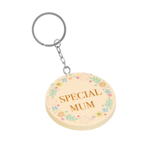 29e24cf484 Ditsy Floral MDF Keyring, Mothers Day Gift, Birthday Gift - Special Mum on  OnBuy
