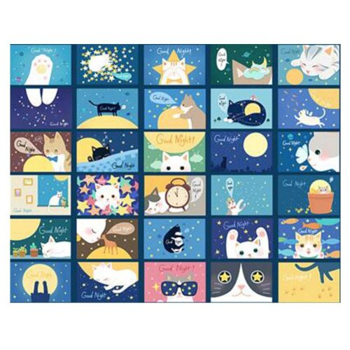 30PCS 1 Set Creative Postcards Artistic Beautiful Postcards, Dreaming of a Cat