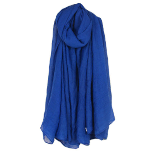 Womens Fashion Solid Scarves Comfortable Scarf Shawl Wrap Neck Wear, Blue