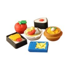 3 Sets Of Creative Cute Cartoon Erasers Korean Cuisine Modeling