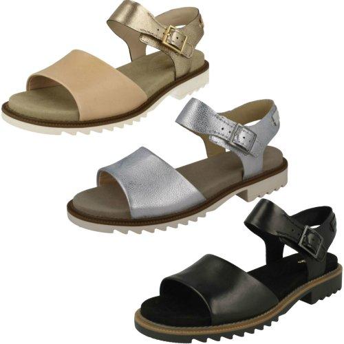 Ladies Clarks Open-Toe Sandals Ferni Fame - D Fit