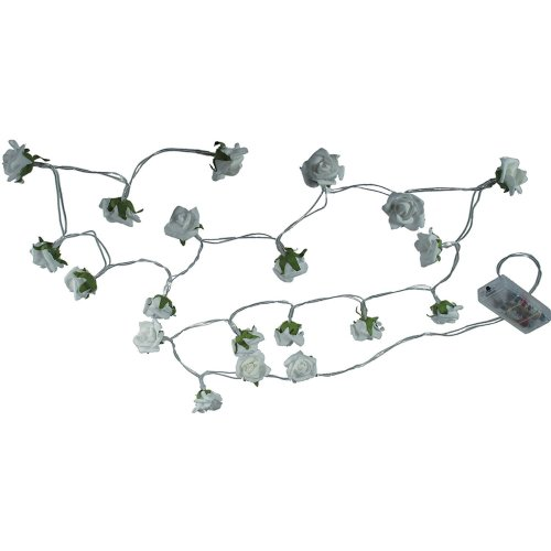 Roxan Garland with 20 Mini Roses and 20 LEDs