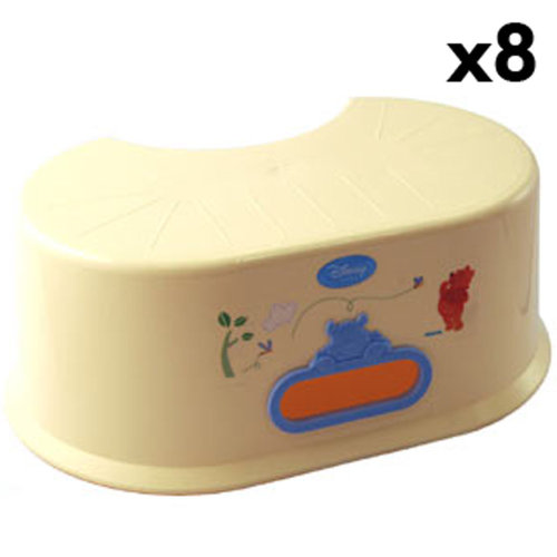BABY - Box of 8 Honey Tree Pooh Step up stools - Yellow / Blue