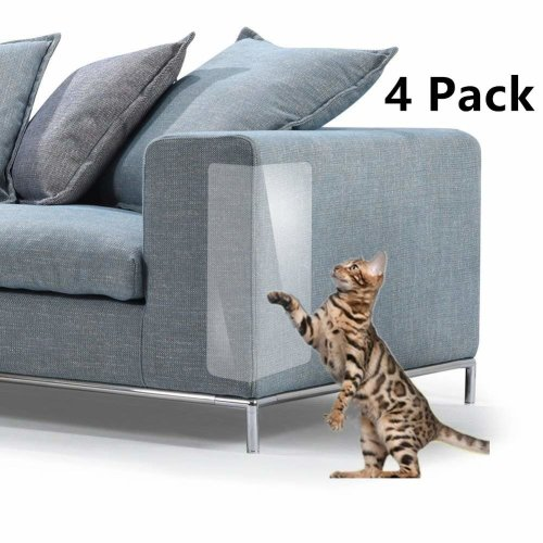 """Andy Mr 4 Pack Cat Scratch Guard Furniture Protector,(18.5"""" L x 5.9"""" W) Pet Couch Protector Guards,Discreet Cat Scratch Furniture Protector,To..."""