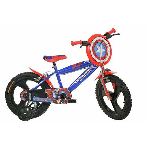 Dino Captain America Boys Bike w/ Shield Mag Wheel
