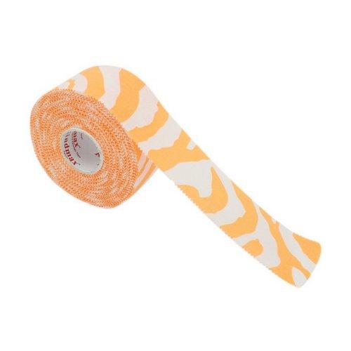 1 Roll Bracers Elbow Ankle Self Adherent Cohesive Bandage, Orange Zebra Patterns