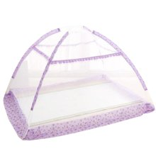Foldable Insect Netting for Cribs Bottomless Baby Mosquito Nets (Purple)