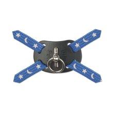 Nylon Harness Figure 8 Moon & Stars Blue