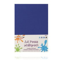 Dovecraft A4 Foam Sheets - 8 Sheets in 4 colours - Blues