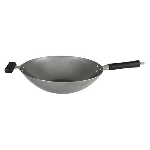 Swift Spice 34 cm Professional Heavy Gauge Carbon Steel Wok with 2 Phenolic Staycool Handles
