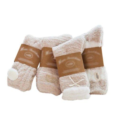 4 Pairs Adult Floor Socks Sleep Socks Winter Casual Socks #1