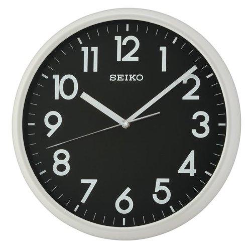 Seiko QXA694N LumiBrite Wall Clock - Light Grey with Black Face