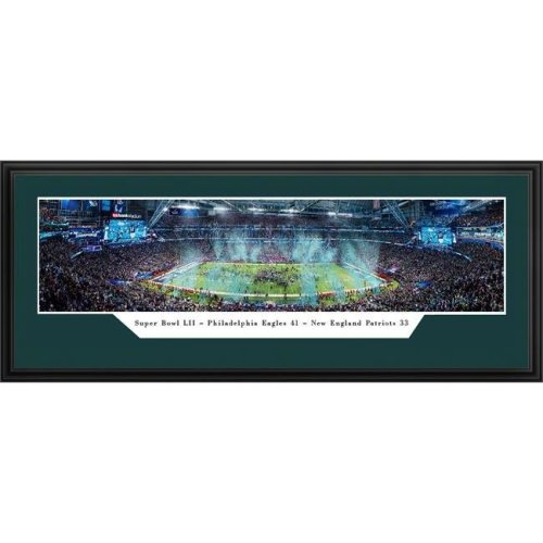 Encore Select 321-69 15 x 35 in. LII World Champions, Philadelphia Eagles - Panoramic Frame