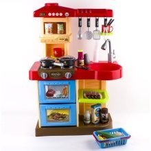 deAO Children Play Kitchen Set Toy with Play Food and Cooking Accessories