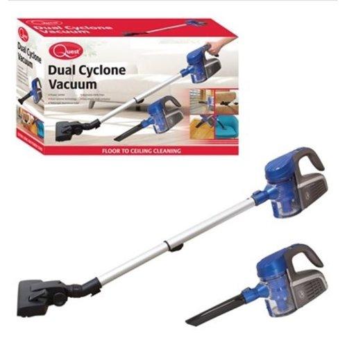 Quest Dual Cyclone Vacuum Cleaner Blue Homewares Indoor Handheld Stretch