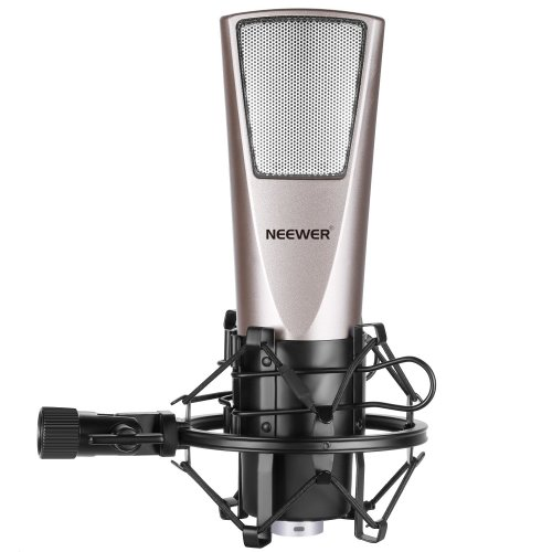 Neewer Cardioid Condenser Microphone(Steel Mesh) with Spider Shock Mount, Y-Converter Splitter Cable, 3.5MM Male to XLR Female Cable and Foam Cap...