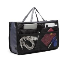 (Black) Miss Lulu Organiser Pouch | Multi-Pocket Handbag Tidy