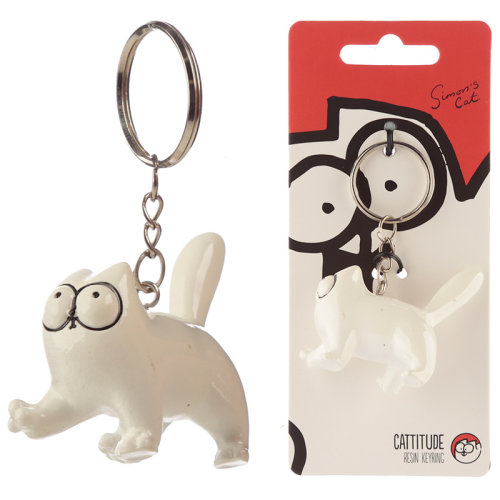 Fun Collectable Simons Cat Cattitude Keyring