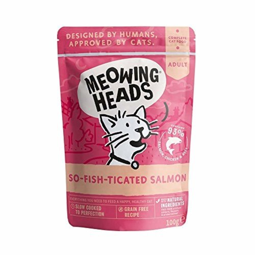 Meowing Heads So-fish-ticated Salmon Wet Cat Food, 100 g, Pack of 10