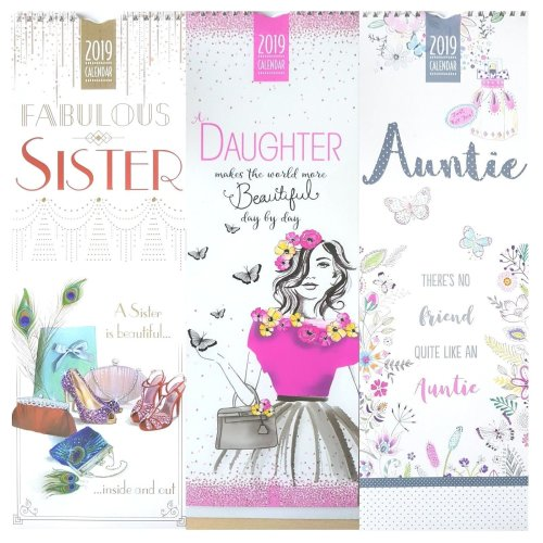 2019 Relation Slim Wall Calendar Sibling Daughter Auntie Aunt Sister Christmas Gift