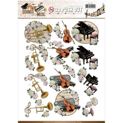 Find It Trading SB10243 Amy Design Sounds Of Music Punchout Sheet - Classic