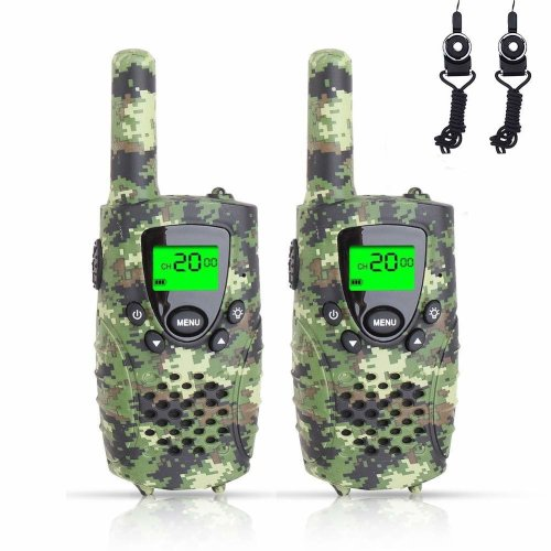 Fairwin Walkie Talkies for Kids, Up to 4-Mile Range 0.5W 8 Channels 446MHZ Two Way Radios for Children with Flashlight and Backlit LCD Screen (...