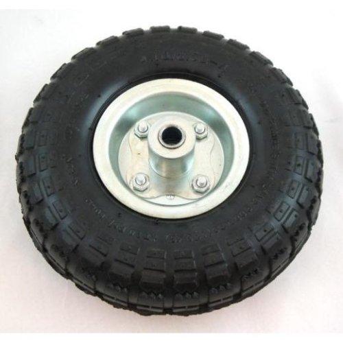 Toolzone Sack Truck Spare Wheel With Silver Centre - 10 Pneumatic Trolley -  10 pneumatic sack truck trolley garden cart wheels tz rm003 set 4 x1