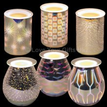 3D Electric Wax Melt Burner Glass Tart Granules Aromatize