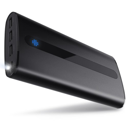 Power Bank 24000mAh Sipu Portable Charger External Battery with 2.1A Input Port, LED Lights and 3 Charging Ports for iPhone, iPad, Android, Samsung...