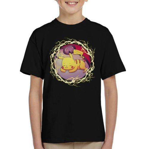 Pikachu Hidden Thunder Ball Pokemon Kid's T-Shirt