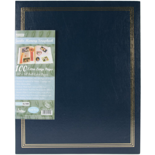 "Pioneer Post Bound Jumbo Album 11""X14""-Navy Blue"