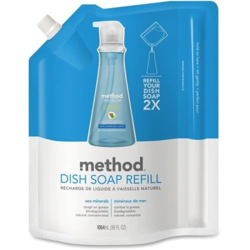 skilcraft MTH01315 36 Fl oz Method Gel Sea Minerals Detergent Dish Pump Refill