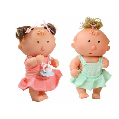 Set of 3 Cute Soft Baby Dolls 7 Inches Bath Toys for Kids