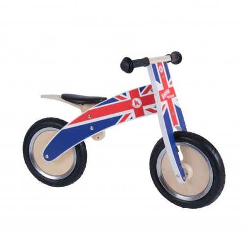 Kiddimoto Kids Kurve Wooden Balance Bike - Union Jack Design