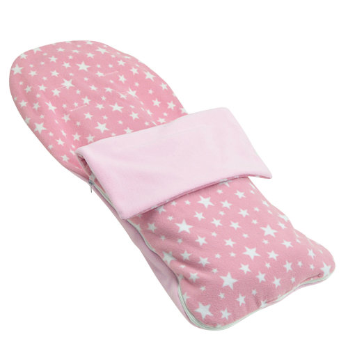 Snuggle Summer Footmuff Compatible With Chicco Trio Enjoy - Light Pink Star