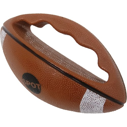 Spot Ez-Catch Football Dog Toy -Brown