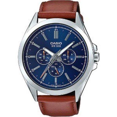 Casio MTPSW300L-2AV Analog Wrist Watch, Brown Leather